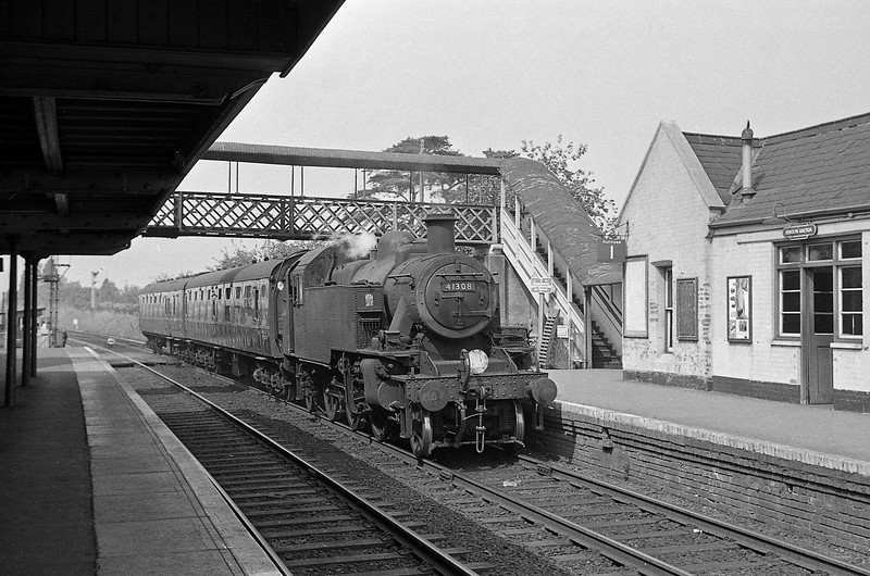 41308, up stopper, Sidmouth Junction, September 5, 1964.