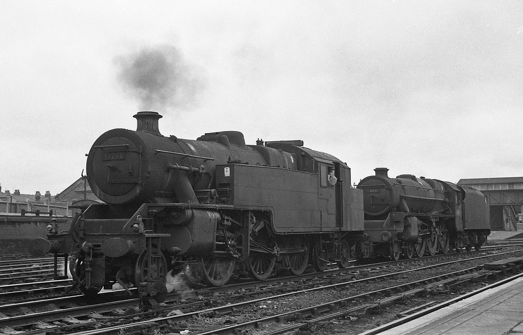 42233 and 45031, Manchester Victoria, August 2, 1965.