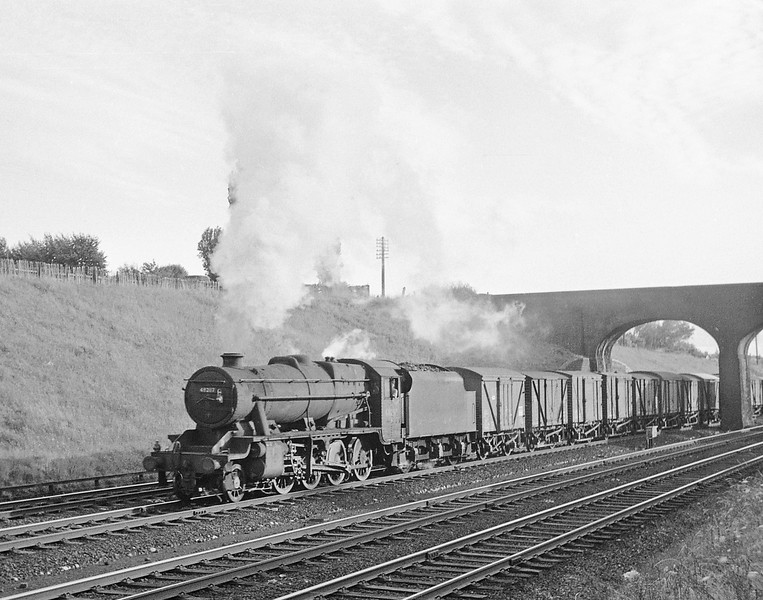 48297, up freight, near Mold Junction, August 6, 1965.