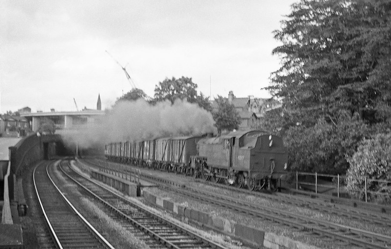 42597, down freight, Chester, August 6, 1965.