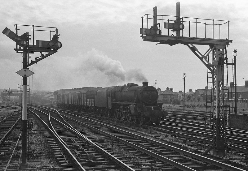 45311, up freight, Rhyl, August 5, 1964.