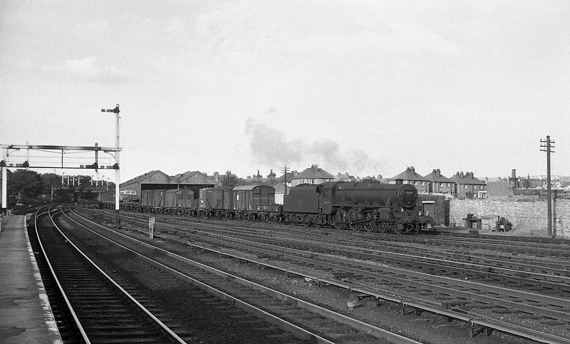 45279, down freight, Rhyl, August 3, 1965.