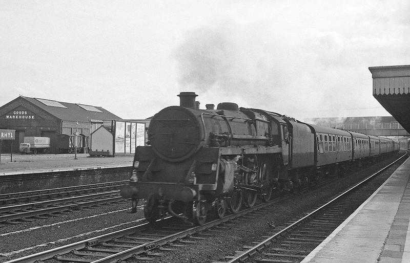73XXX, up passenger, Rhyl, August 5, 1964.