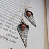 "Beautiful Calla Lily Earrings with Soft Orange Sunstone Gemstone<br /> <br /> ~ Made by Alasha Lantinga<br />  <a href=""http://www.facebook.com/saffirejewelry"">http://www.facebook.com/saffirejewelry</a><br />  <a href=""http://www.alashalantinga.com"">http://www.alashalantinga.com</a>"