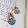 """Small Teardrop Earrings with Lotus Flower and Pink Quartz<br /> <br /> ~ Made by Alasha Lantinga<br />  <a href=""""http://www.facebook.com/saffirejewelry"""">http://www.facebook.com/saffirejewelry</a><br />  <a href=""""http://www.alashalantinga.com"""">http://www.alashalantinga.com</a>"""