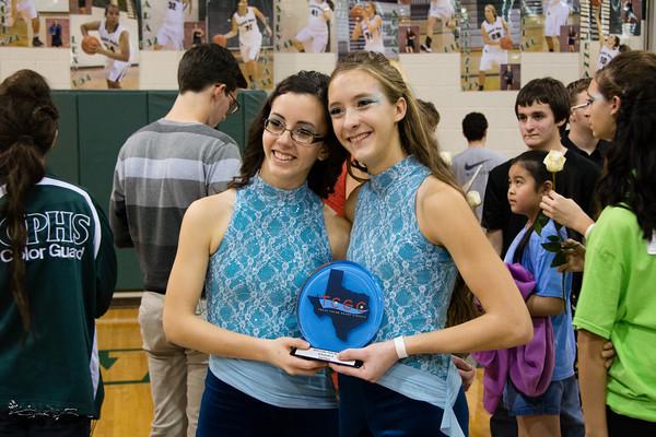CPHS Winterguard show participants