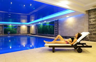 צילום אדריכלות: הבריכה החדשה במלון קיסר טבריה. צולם עבור רשת מלונות קיסר