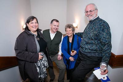 Gretchen Pfaehler, Jim Kane, Ellen Malasky, Gary Malasky. Photo by Alfredo Flores. Carroll and Greg's Winter Fest‏. Chevy Chase Plaza Residences. January 24, 2014.
