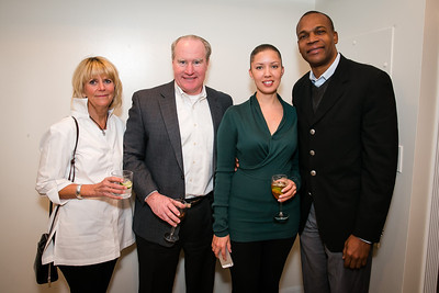Jim O'Sullivan, Grace O'Sullivan, Grace Leonce, Sean Leonce. Photo by Alfredo Flores. Carroll and Greg's Winter Fest‏. Chevy Chase Plaza Residences. January 24, 2014.