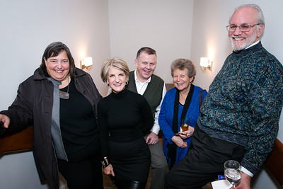 Gretchen Pfaehler, Carroll Dey, Jim Kane, Ellen Malasky, Gary Malasky. Photo by Alfredo Flores. Carroll and Greg's Winter Fest‏. Chevy Chase Plaza Residences. January 24, 2014.