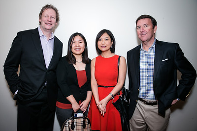 David Morey, Shan Luan, Zheng Xie, Jeffrey Reilly. Photo by Alfredo Flores. Carroll and Greg's Winter Fest‏. Chevy Chase Plaza Residences. January 24, 2014.