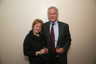 Howard Adelson, Helen Feinbloom. Photo by Alfredo Flores. Carroll and Greg's Winter Fest‏. Chevy Chase Plaza Residences. January 24, 2014.
