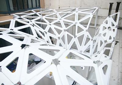 Triangular, modelar, Canopy Construction | Urban Future Organization