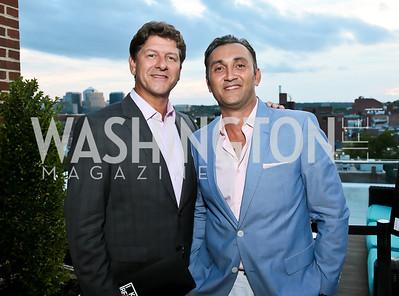 Lyndon Boozer, Seyhan Duru. Photo by Tony Powell. Celebrating Summer with Gio Gonzalez. The Graham Rooftop. September 4, 2014