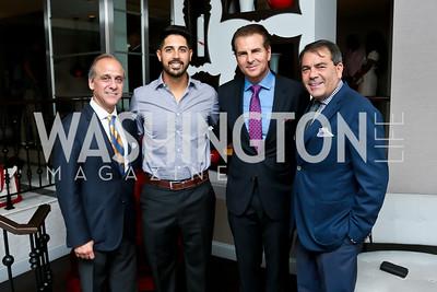 Lawrence Behar, Gio Gonzalez, Vince De Paul, Steven Behar. Photo by Tony Powell. Celebrating Summer with Gio Gonzalez. The Graham Rooftop. September 4, 2014