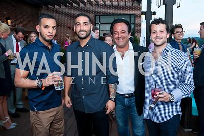 Daniel Sanchez, Max Gonzalez, Sam Levinson, Jason Smith. Photo by Tony Powell. Celebrating Summer with Gio Gonzalez. The Graham Rooftop. September 4, 2014