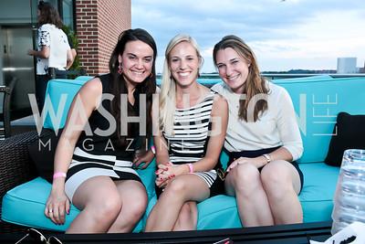 Nara de Sa Guimaraes, Heather Theunissen, Caitlin Lane. Photo by Tony Powell. Celebrating Summer with Gio Gonzalez. The Graham Rooftop. September 4, 2014