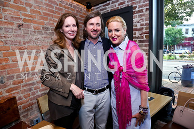 Juleanna Glover, Christopher Reiter, Dr. Christine Warnke. Photo by Tony Powell. Celebrating Summer. Eno Wine Bar. June 18, 2014