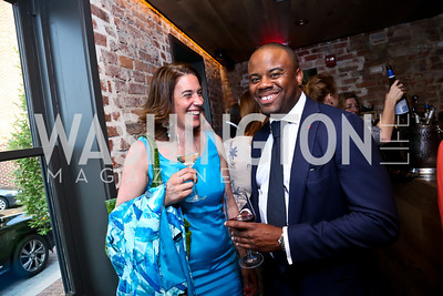 Catherine Miceli, Darren Jackson. Photo by Tony Powell. Celebrating Summer. Eno Wine Bar. June 18, 2014