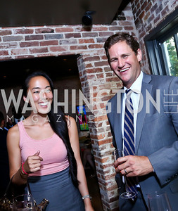 Tina Jeon, Michael Hillegass. Photo by Tony Powell. Celebrating Summer. Eno Wine Bar. June 18, 2014