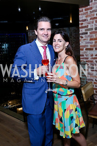 Four Seasons GM Dirk Burghartz, Jenn Diamond Haber. Photo by Tony Powell. Celebrating Summer. Eno Wine Bar. June 18, 2014