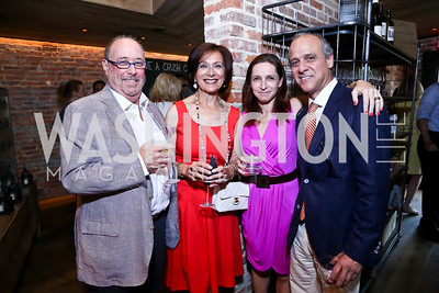 Jeff and Anne Sabloff, Georgia and Lawrence Behar. Photo by Tony Powell. Celebrating Summer. Eno Wine Bar. June 18, 2014