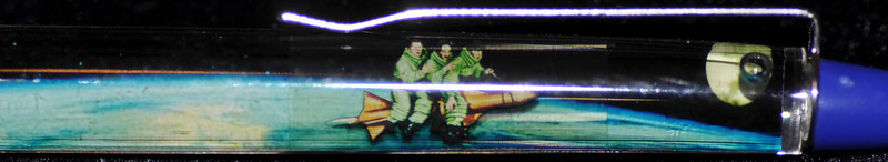 Back:  The Three Stooges<br /> Front: space/moon<br /> Floater: The Three Stooges on a rocket<br /> Style: Classic<br /> Color: black<br /> Cost: $15.00<br /> Category: celebrity