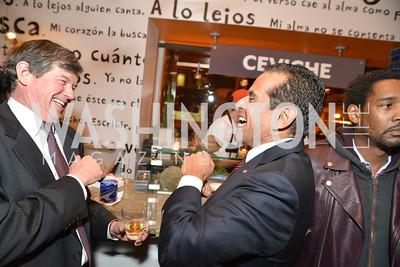 Antonio Villaraigosa (R) Cesar Chavez Cast Party at Oyamel, with Diego Luna, America Ferrera, Rosario Dawson, Voto Latino, and Herbalife. March 18, 2014.  Photo by Ben Droz.