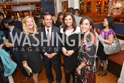 Amy Greene, Antonio Villaraigosa, Lori Kalani, Cristina Antelo, Cesar Chavez Cast Party at Oyamel, with Diego Luna, America Ferrera, Rosario Dawson, Voto Latino, and Herbalife. March 18, 2014.  Photo by Ben Droz.