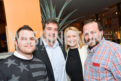 Adam Crain, David White, Holly Whidden, Eric Hirshfield, Cesar Chavez Cast Party at Oyamel, with Diego Luna, America Ferrera, Rosario Dawson, Voto Latino, and Herbalife. March 18, 2014.  Photo by Ben Droz.