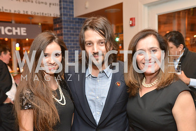 Diego Luna, Anne Williams, Geisha Williams  Cesar Chavez cast party at Oyamel. Diego Luna, America Ferrera and Rosario Dawson.  March 18, 2014. Photo by Ben Droz