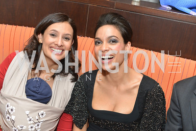 ,Maria Teresa Kumar, Rosario Dawson,Cesar Chavez cast party at Oyamel. Diego Luna, America Ferrera and Rosario Dawson.  March 18, 2014. Photo by Ben Droz