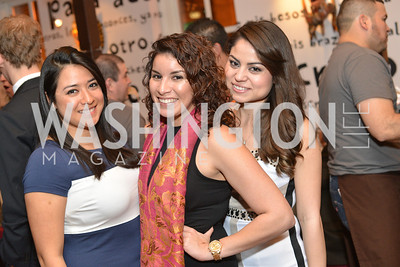 Diana Palomares, Maria Samaneigo, Roxana Moreno  Cesar Chavez cast party at Oyamel. Diego Luna, America Ferrera and Rosario Dawson.  March 18, 2014. Photo by Ben Droz