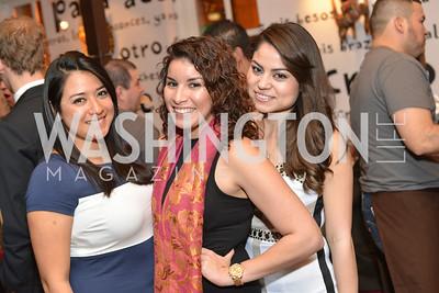 Diana Palomares, Maria Samaneigo, Roxana Moreno  Cesar Chavez cast party at Oyamel. Diego Luna, America Ferrera and Rosario Dawson.  March 18, 2014. Photo by Ben Droz