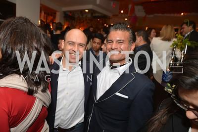 Maria Teresa Kumar, Raj Kumar, Cesar Chavez cast party at Oyamel. Diego Luna, America Ferrera and Rosario Dawson.  March 18, 2014. Photo by Ben Droz
