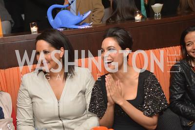 Karen Finney, Rosario Dawson, Cesar Chavez cast party at Oyamel. Diego Luna, America Ferrera and Rosario Dawson.  March 18, 2014. Photo by Ben Droz
