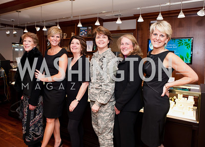 Suzanne Black, Wendy Adeler, Georgia Bay, Lt. Col. Molly Klote, Donna Mosley, Valentina Adeler