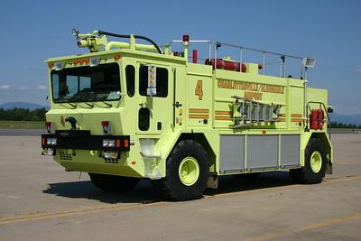 Charlottesville - Albemarle Airport - Phoenix 94, a 1996 Oshkosh T1500 with a 1950/1500/210 and 450# Purple K.