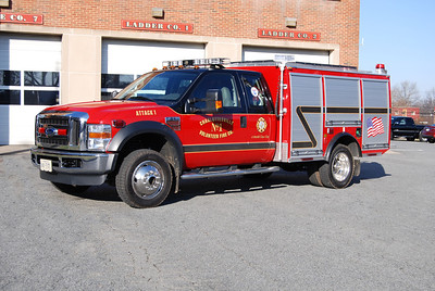 Charlottesville has a small contingent of volunteers, they mainly utilize Attack 1, a 2009 Ford F-550/EJ Metals, 500/300/10.