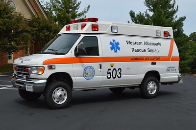 Medic 503 from WARS is the 1999 Ford E350 SuperDuty 4x4 Quigley/PL Custom.  This is the departments inclement weather piece.