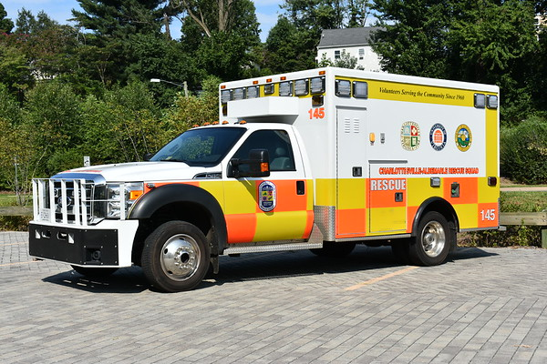 CARS - 145 is a 2015 Ford F450 with an older AEV ambulance body that was remounted by Northwestern.