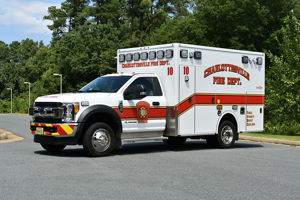 Charlottesville, Virginia Medic 10 is a former demo.  It is a 2016 Ford F450/Demers purchased in 2017 by Charlottesville.