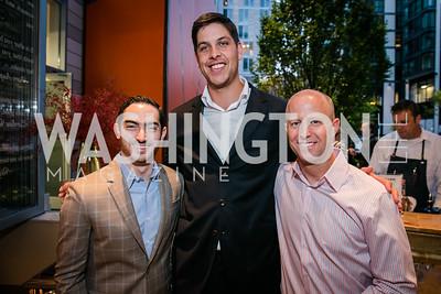 Cristian Becker, Jordan Macarthy, Michael Reimer. Photo by Alfredo Flores. Chef Daniel Boulud DBGB DC Grand Opening at CityCenterDC. DBGB DC. September 12, 2014