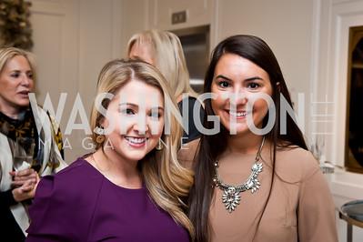 Katy Ricalde, Virginia Martone. Photo by Tony Powell. Saks Fifth Avenue Annual Fashion Show Fundraiser. November 16, 2014