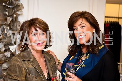 JoAnn McInnis, Lisa Guarnieri. Photo by Tony Powell. Saks Fifth Avenue Annual Fashion Show Fundraiser. November 16, 2014