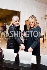 Joy Runyon, Audrey Messina. Photo by Tony Powell. Saks Fifth Avenue Annual Fashion Show Fundraiser. November 16, 2014