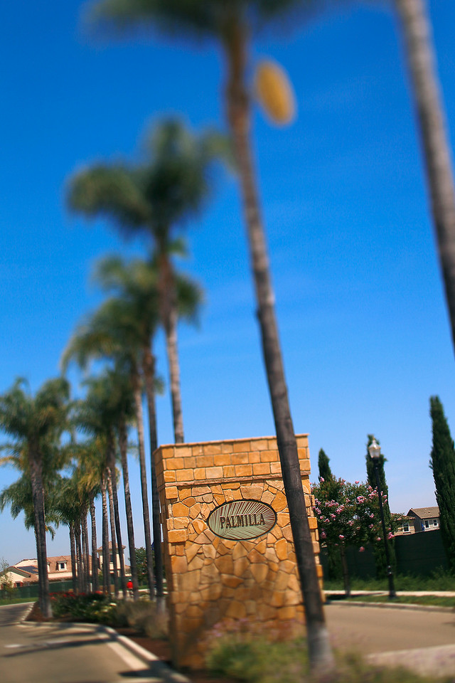 Palmilla Entry Monument by William Lyon Homes, Brentwood, CA, 6/30/14.