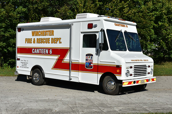 Canteen 6 for the Winchester, VA Fire and Rescue Department.  A 1986 Ford/Grumman Olson/2017 Keplinger Repair.  The truck originally belonged to a bakery, then Handley High School, and then Grace Community Church - all in Winchester.  It was donated to Winchester in 2016.