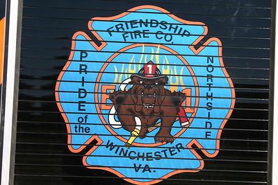 Friendship's emblem found on the rear of Engine 1, a 2010 Pierce Arrow XT.