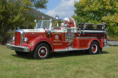 Privately owned in Winchester is this old Winchester engine from Friendship Fire Company.  This 1952 Mack L85 750/400 was originally delivered to Charles Town, WV Independent Fire Company.  It was later sold to Friendship and then later sold to a collector in Maryland.  In 2014, it was brought back home to Winchester.